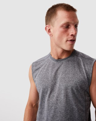 Cotton On Active Tech Muscle - Muscle Tops (Light Grey Space Marle)