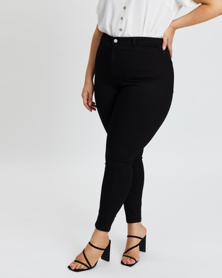 Atmos&Here Curvy Darci Skin Tight Jeggings - Jeans (Black)