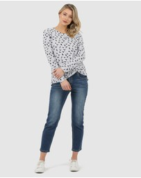 Privilege - Twist Hem Top