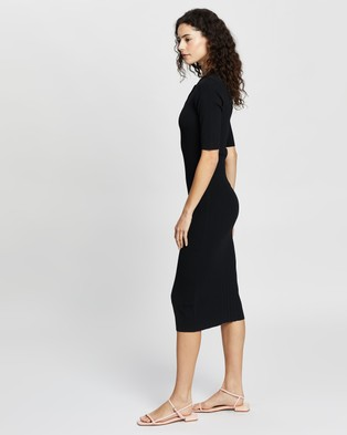 Elka Collective Carmine Knit Dress - Bodycon Dresses (Black)