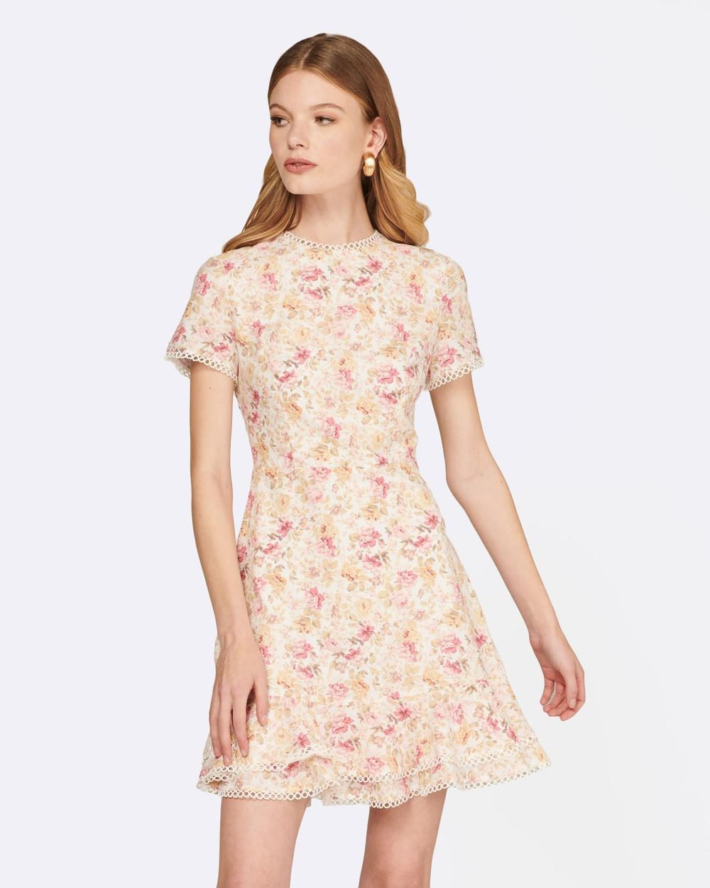 MVN White Summer Crush Floral Dress