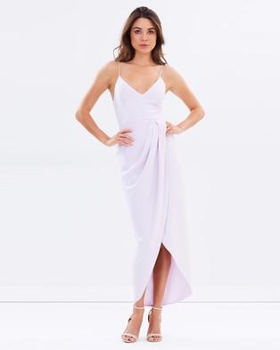 Shona Joy – Cocktail Draped Maxi Dress – Bridesmaid Dresses (Lilac)