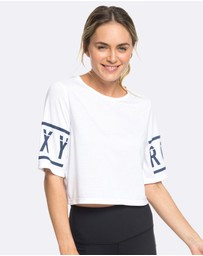 Roxy - Womens Rockin On The Moon Cropped Sporty Tee