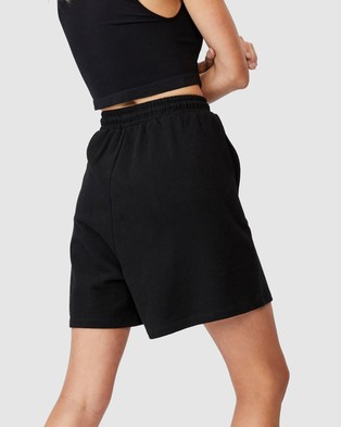 Cotton On Clubhouse Shorts - High-Waisted (Black)