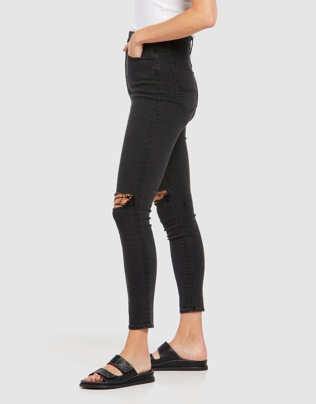 Women High Licks Crop Jeans