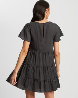 The Fated Charli Shift Dress - Printed Dresses (Black)