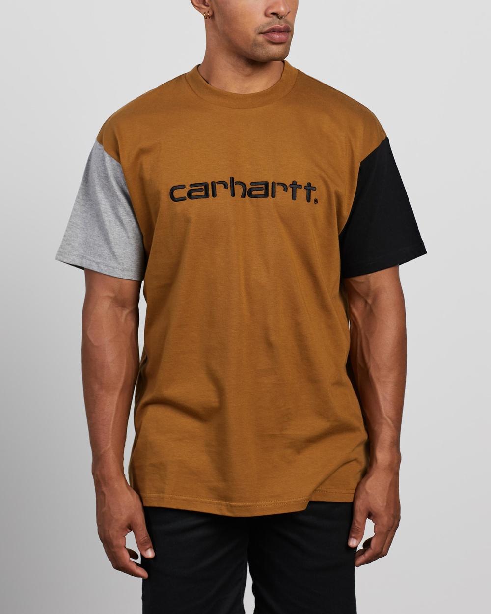 Carhartt - SS Carhartt Tricolour T Shirt - T-Shirts & Singlets (Hamilton Brown) SS Carhartt Tricolour T-Shirt