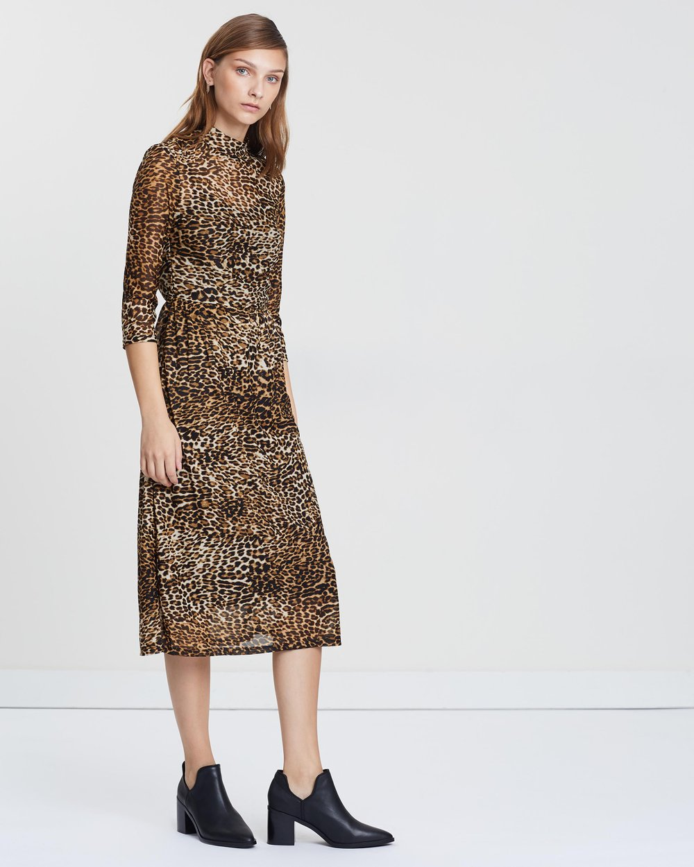 a3a7bdfbd3d5 Leopard Print Mesh Dress by Warehouse Online | THE ICONIC | Australia