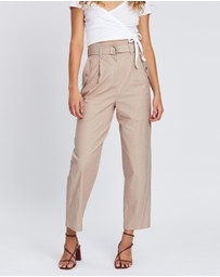 TOPSHOP - Belted Pocket Utility Peg Trousers