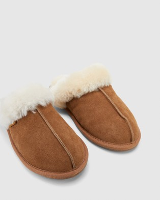 Hush Puppies Cushy - Slippers & Accessories (Chestnut Suede)
