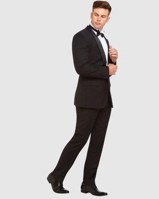 Kelly Country Livorno 1 Button Slim Fit Dinner Suit - Suits & Blazers (Black)