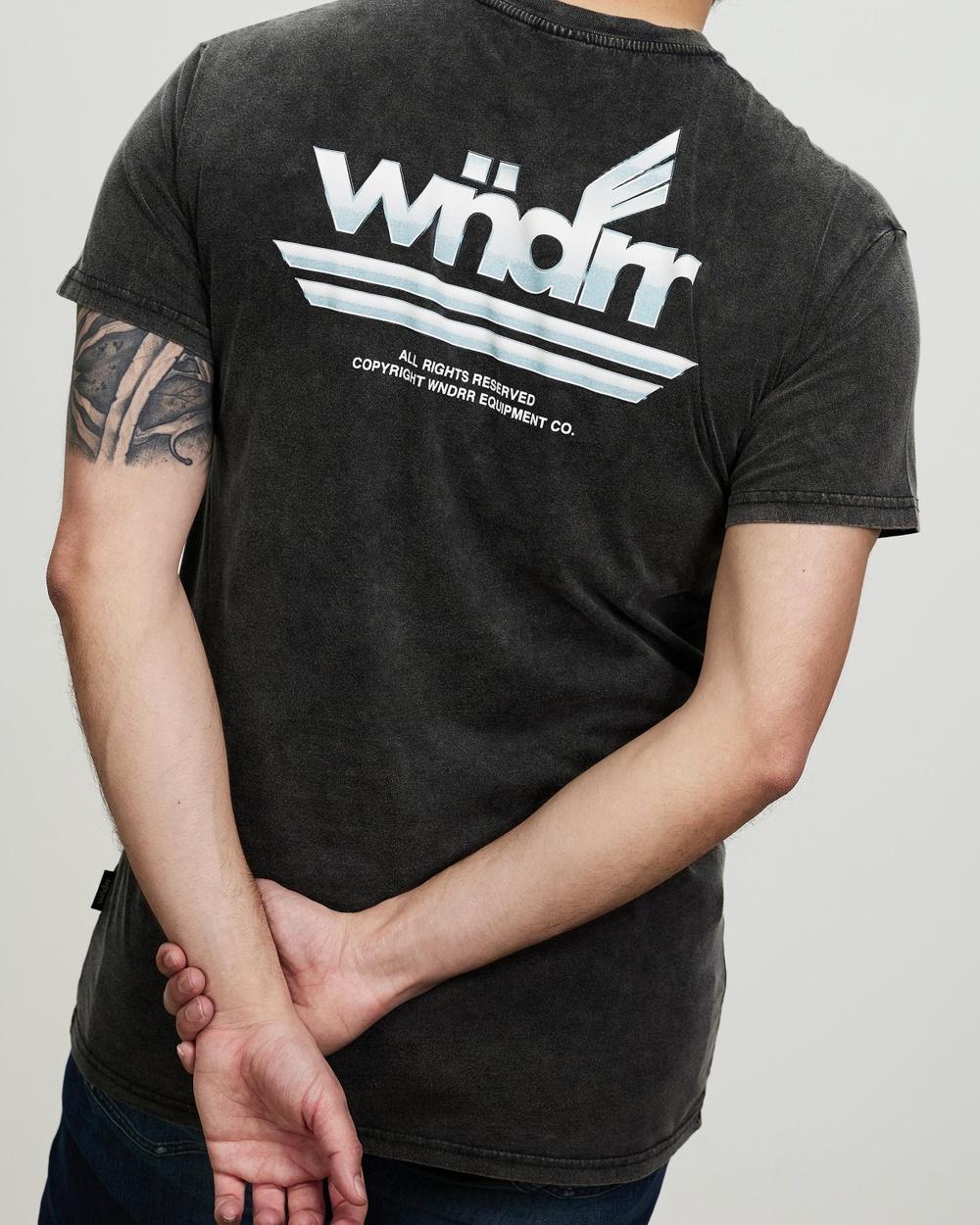 WNDRR Richfield Custom Fit Tee T-Shirts & Singlets Washed Black Australia