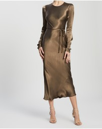 Shona Joy - Sophia Long Sleeve Bias Midi Dress