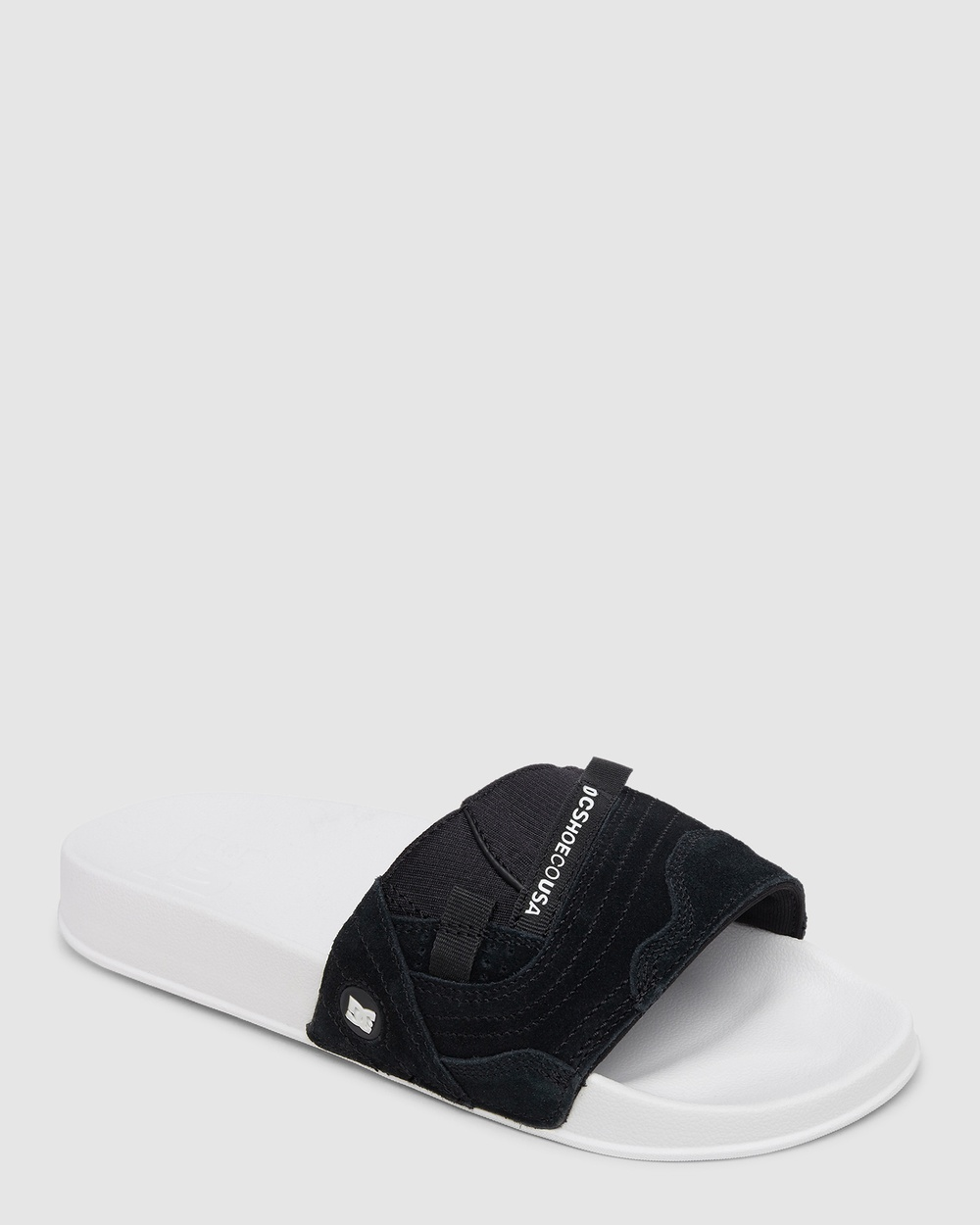 DC Shoes Mens Williams Sliders Slippers & Accessories Black/White