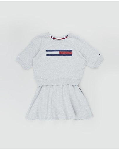Tommy Hilfiger - Lurex Flag Knit Dress - Teens
