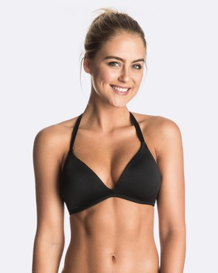 Roxy – Womens Roxy Essentials Moulded 70's Separate Bikini Top True Black