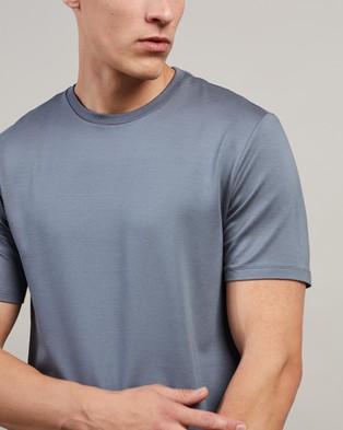 REISS Brady Crew Neck T Shirt - T-Shirts & Singlets (Sky Blue)