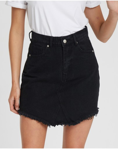 The Fated - Rebel Distressed Denim Skirt