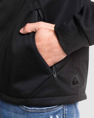 Quiksilver Mens Quik Block Tech Technical Zip Hoodie - Hoodies (Black)