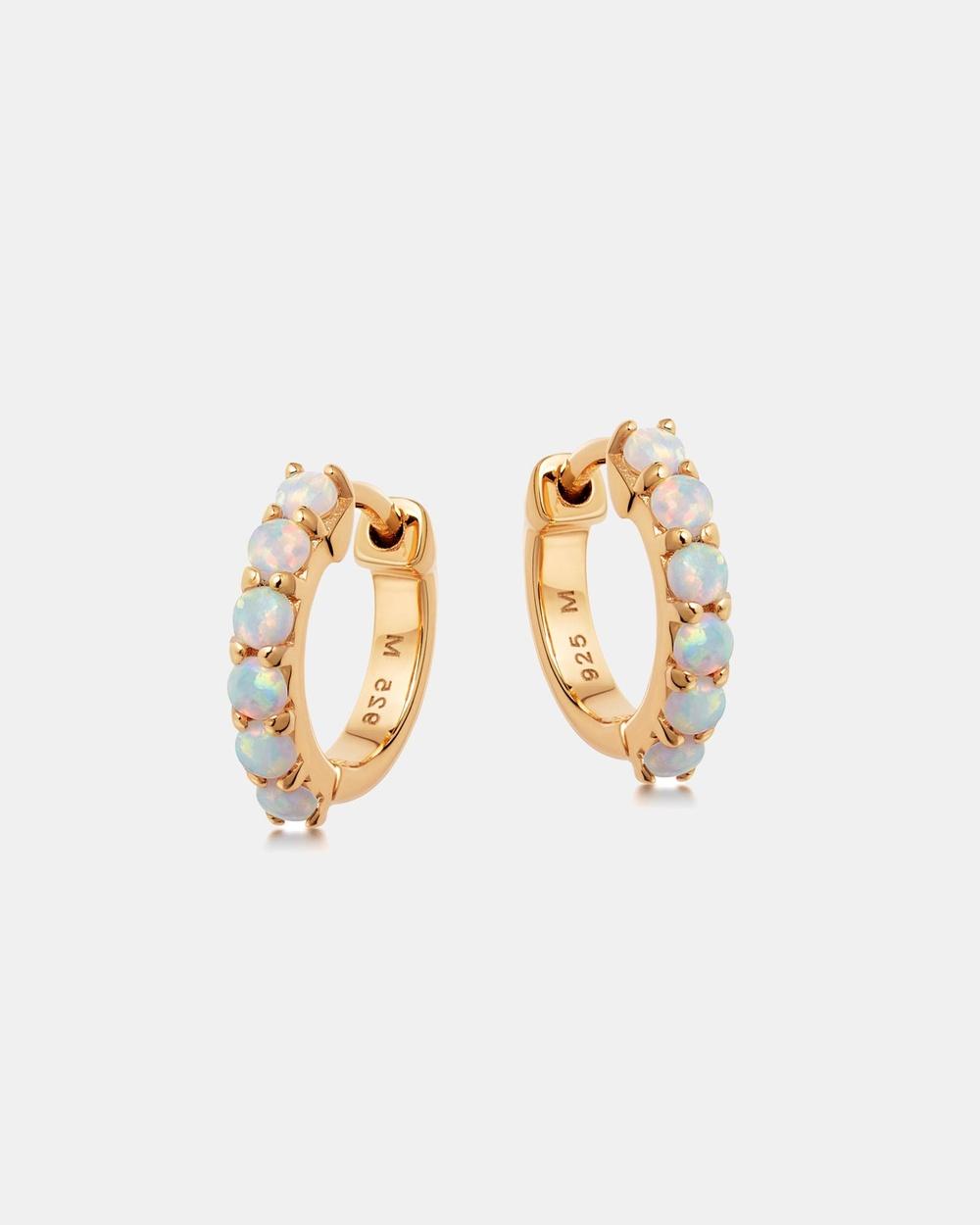 Missoma Gold Opalite Huggies Jewellery 18ct Vermeil on Sterling Silver