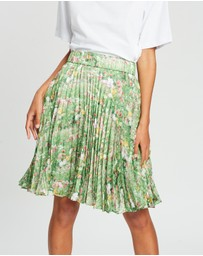 Romance Was Born - Lacy Gardens Pleat Skirt