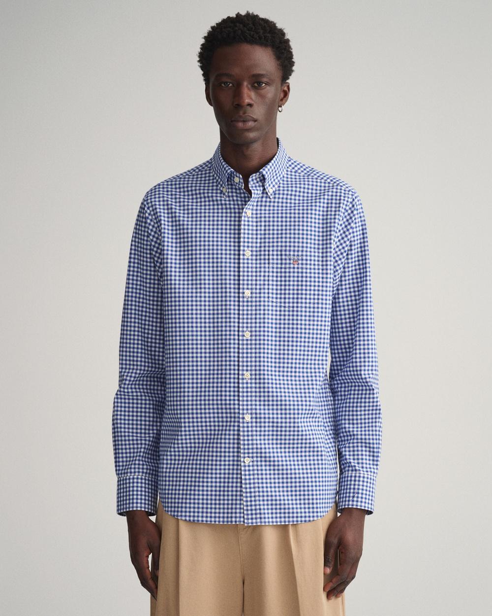 Gant Broadcloth Gingham Shirt Shirts & Polos COLLEGE BLUE Australia