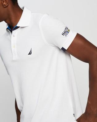 NAUTICA S S Knit Polo Shirt - Clothing (Bright White)