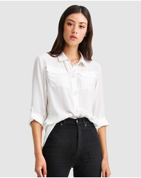 Belle & Bloom - Eclipse Rolled Sleeve Blouse