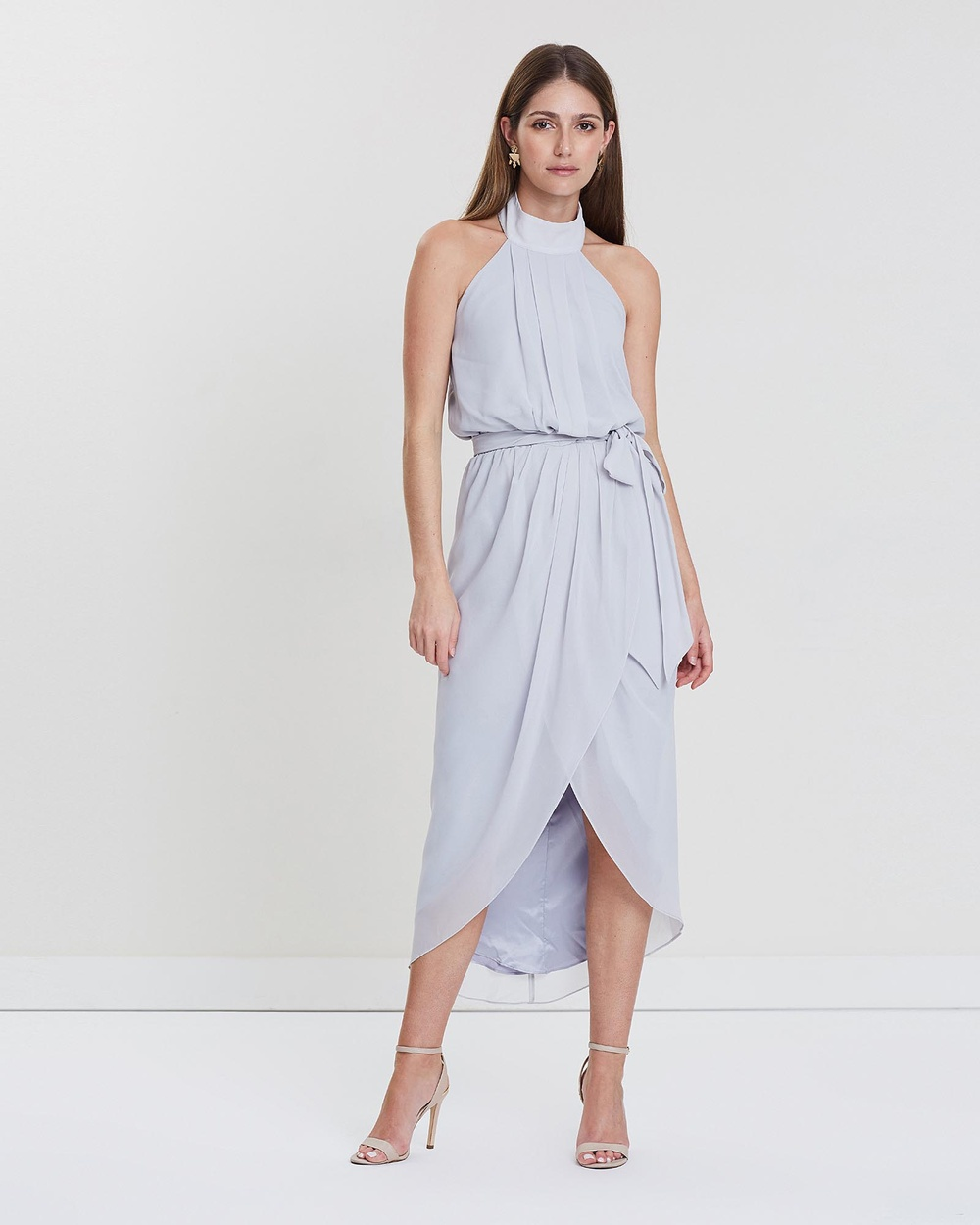 Esther Luxe Grey Amaryllis Dress