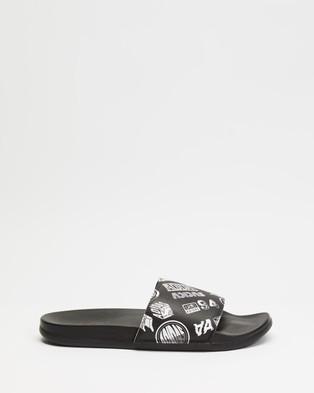 adidas Performance Adilette Comfort Slides Unisex Core Black & Footwear White
