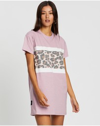 All About Eve - Leopard Panel Tee Dress