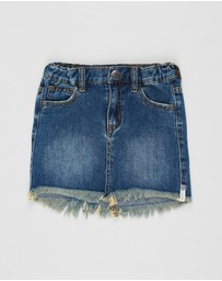 ONETEASPOON - 2020 Mini High-Waist Denim Skirt - Teens
