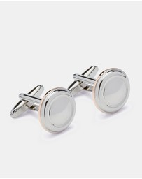 Oxford - Cufflinks Silver/Rose Circle