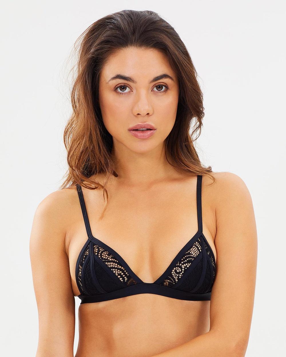 Aqua Blu Australia Luxe Tri Top Bikini Tops Luxe Luxe Tri Top