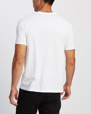 Armani Exchange Slim Logo T Shirt - T-Shirts & Singlets (White)