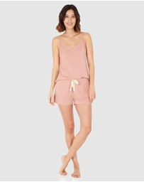 Boody Organic Bamboo Eco Wear - Goodnight Sleep Set - Cami and Shorts - Dusty Pink
