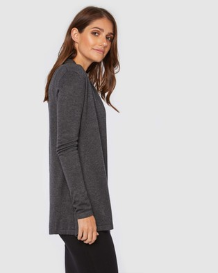 Bamboo Body Bamboo Duster Jacket - Jumpers & Cardigans (Charcoal)