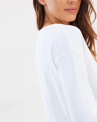 Cloth & Co. Organic Cotton Crew Neck Long Sleeve Top - T-Shirts & Singlets (White)