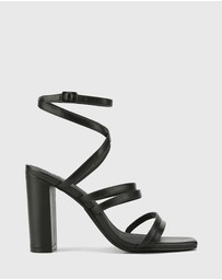 Wittner - Radical Leather Block Heeled Strappy Sandals