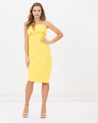 Pink Ruby – Piper Strapless Dress Yellow