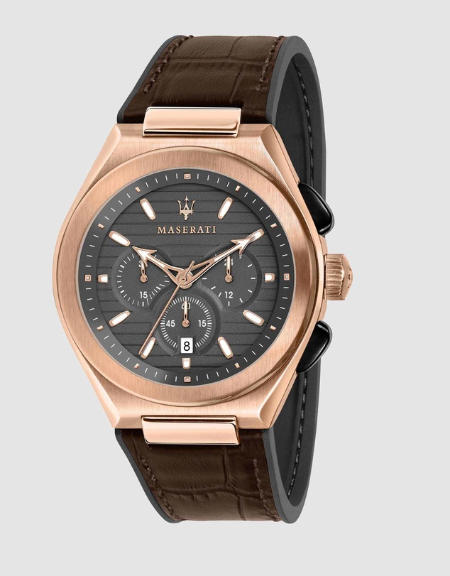 Men Triconic 43mm Gold Watch
