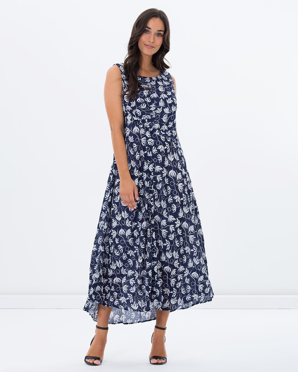 Privilege Free Spirit Layered Dress Dresses Navy Paisley Free Spirit Layered Dress