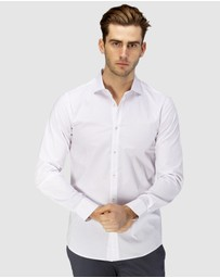 Brooksfield - Career Abstract Print Business Shirt