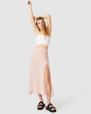 Cotton On Alana Split Maxi Skirt - Skirts (Ramona Sprig Classic Pink)
