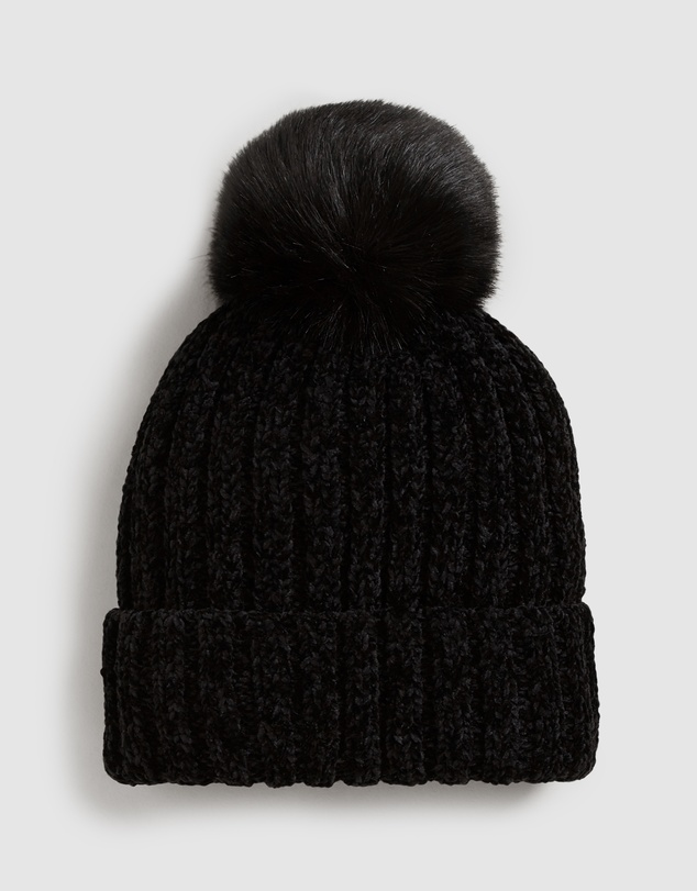 French Connection - Chenille Pom Beanie