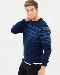 Staple Superior - Rendition Stripe Crew Knit Jumper
