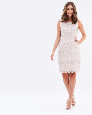 Review – Santana Lace Dress – Dresses (Champagne)