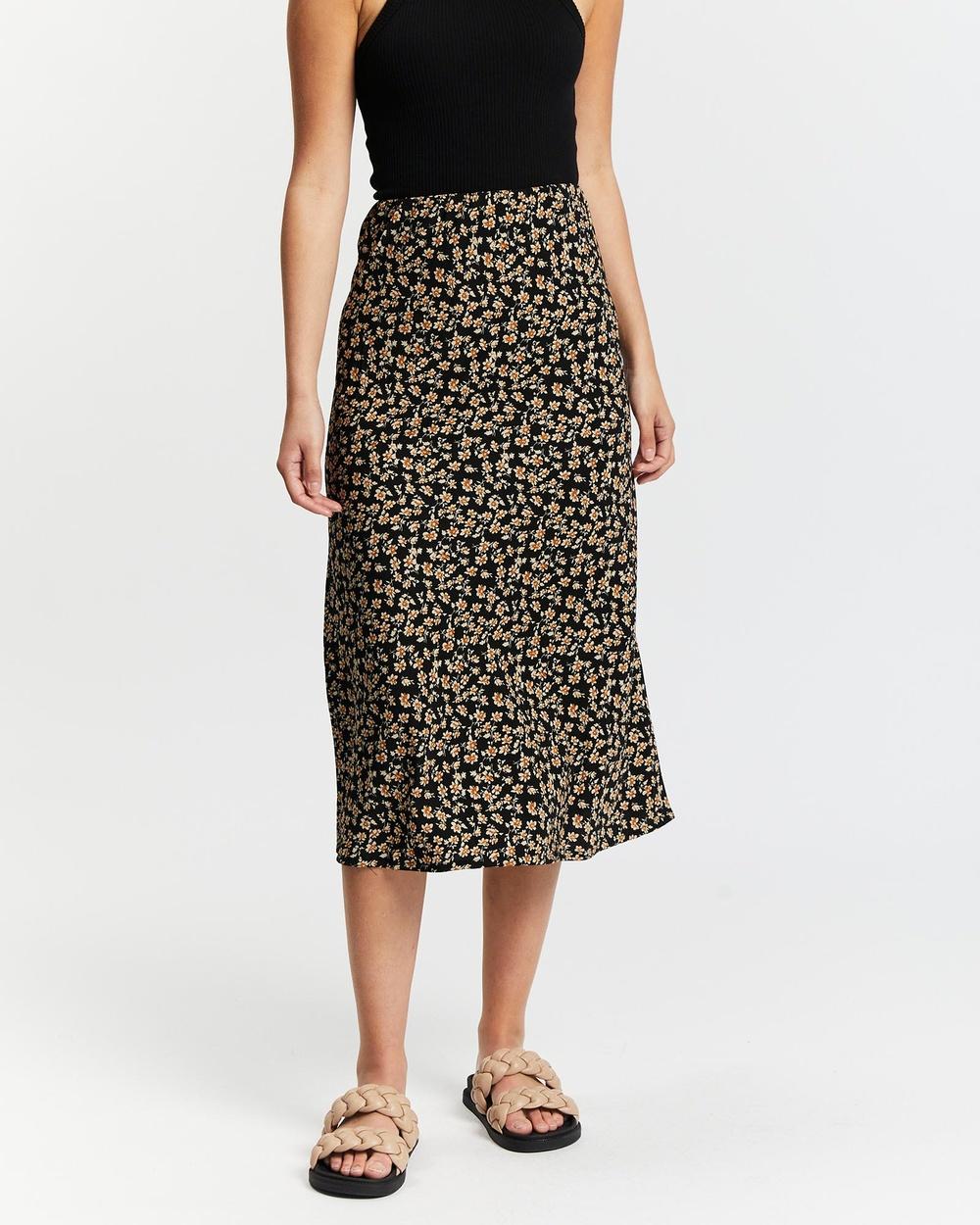 All About Eve Kali Midi Skirt Skirts Black