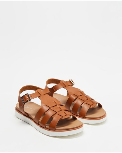 Spurr Jelly Comfort Sandals Tan Smooth