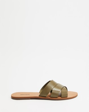 Anacapri Wave Leather - Sandals (Green)